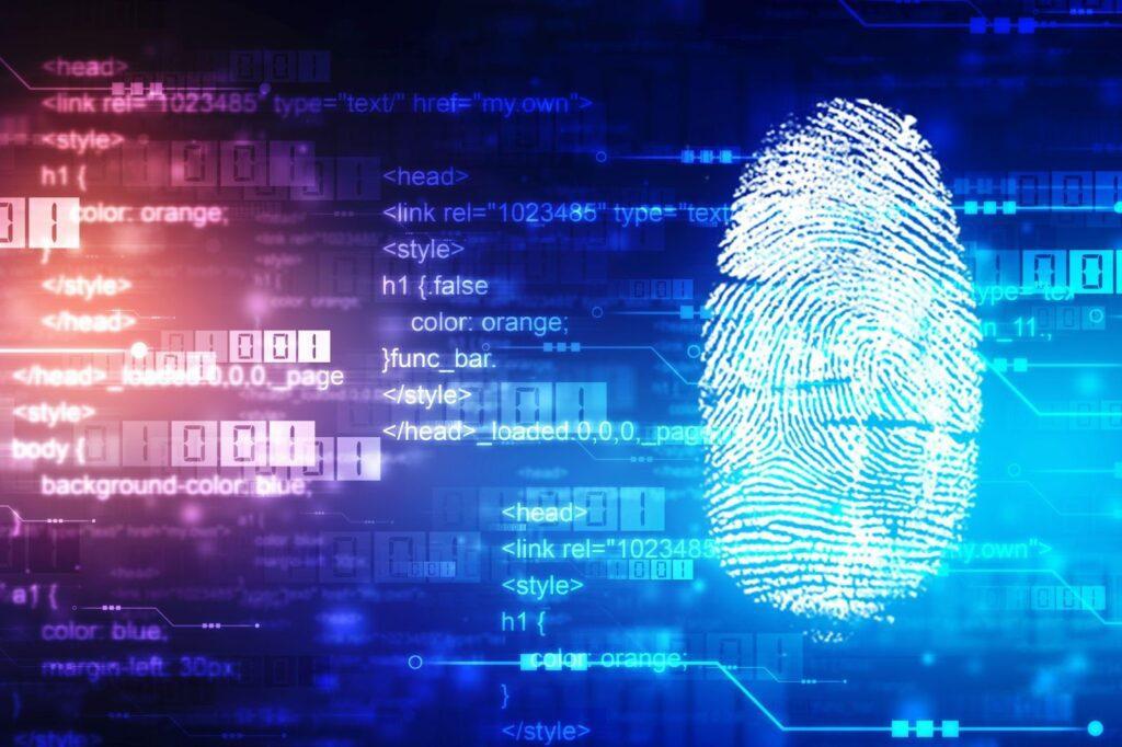a fingerprint scan